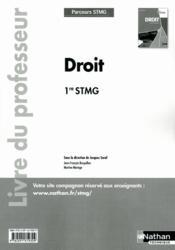 Droit 1ere Stmg (Parcours Stmg - Couverture - Format classique