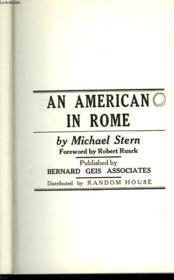 An American In Rome - Couverture - Format classique