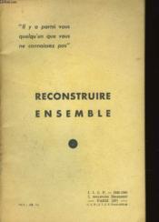 Reconstruire Ensemble - Couverture - Format classique