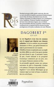 Dagobert Ier ; 629-639 ; Fils De Clotaire Ii - 4ème de couverture - Format classique