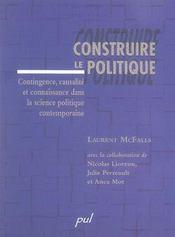 Construire le politique - Intérieur - Format classique