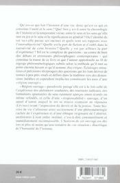 Histoire D'Une Vie Et Sa Region Sauvage (L') - 4ème de couverture - Format classique