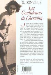 Confidence Du Cherubin - 4ème de couverture - Format classique