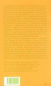Politiques de sante ; refonder la solidarite - 4ème de couverture - Format classique