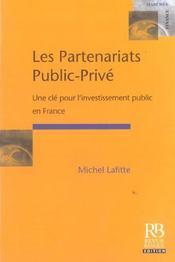 Les partenariats public-prive. une cle pour l'investissementpublic en france - Intérieur - Format classique