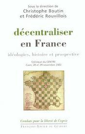 Decentraliser En France - Intérieur - Format classique