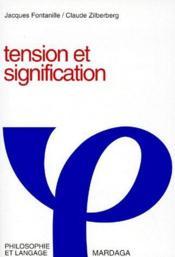 Tension Et Signification - Couverture - Format classique