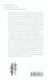 Frontalites Censure Et Provocation Photographie - 4ème de couverture - Format classique