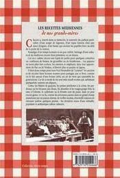 Les recettes meusiennes de nos grands-mères - 4ème de couverture - Format classique