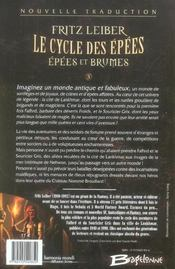 Le cycle des épées ; épées et brumes t.3 - 4ème de couverture - Format classique