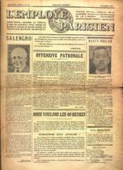 Employe Parisien (L') N°12 du 01/11/1936 - Couverture - Format classique