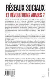 Réseaux sociaux et révolutions arabes ? - 4ème de couverture - Format classique