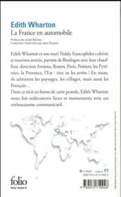 La France en automobile - 4ème de couverture - Format classique