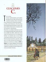 Giacomo C. t.5 ; pour l'amour d'une cousine - 4ème de couverture - Format classique
