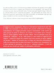 Essai Sur L'Entendement Humain Locke - 4ème de couverture - Format classique