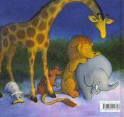 Bonne nuit petit gorille - 4ème de couverture - Format classique