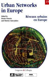 Reseaux Urbains En Europe - Couverture - Format classique