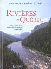 Rivieres Du Quebec Decouverte D'Une Richesse Patrimoniale Et Naturelle - Intérieur - Format classique