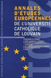 Annales D'Etudes Europeennes Vol 5 - Intérieur - Format classique