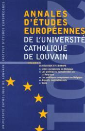 Annales D'Etudes Europeennes Vol 5 - Couverture - Format classique
