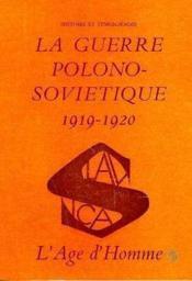 Guerre Polono Sovietique 1919-1920 - Couverture - Format classique