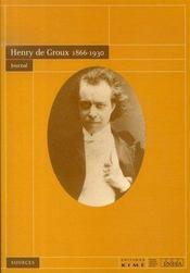 Journal ; henry de groux, 1866-1930 - Intérieur - Format classique