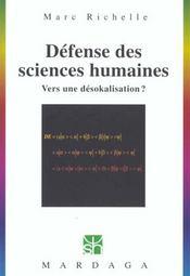 Defense Des Sciences Humaines 223 - Intérieur - Format classique
