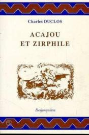 Acajou Et Zirphile - Couverture - Format classique