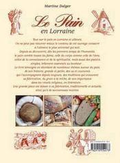 Le pain en lorraine - 4ème de couverture - Format classique