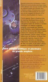 Quantex t.2 ; la révolte des ombres - 4ème de couverture - Format classique