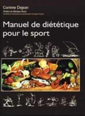 Manuel de diététique pour le sport - Couverture - Format classique