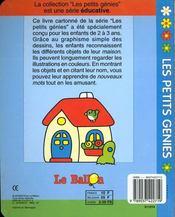 Livre Carton Educatifs : Ma Maison -2/3ans - 4ème de couverture - Format classique