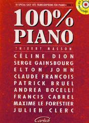 Cent pour cent piano - Couverture - Format classique
