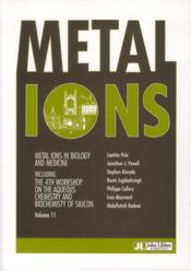 Vente livre :  Metal ions in biology and medicine t.11  - Collectif