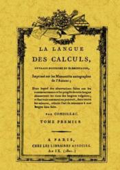 La langue des calculs - Couverture - Format classique