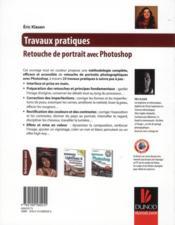 Travaux Pratiques ; Retouche De Portrait Avec Photoshop - 4ème de couverture - Format classique
