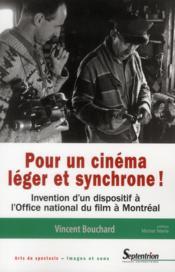 Pour Un Cinema Leger Et Synchrone ! - Couverture - Format classique