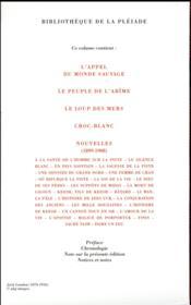 Jack London, romans, récits et nouvelles t.1 - 4ème de couverture - Format classique