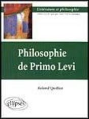 Philosophie De Primo Levi - Intérieur - Format classique