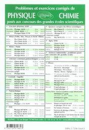 Problemes Corriges De Biologie Geologie Agro-Veto Ina-Ensa Banque G2e Bcpst Deug Tome 2 2001-2002 - 4ème de couverture - Format classique