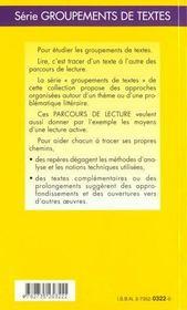 Contes Fantastiques - Parcours De Lecture - 4ème de couverture - Format classique