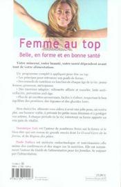 FEMME AU TOP. Belle, en forme et en bonne santé - 4ème de couverture - Format classique