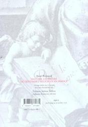 Histoire Litteraire Du Sentiment Religieux En France - 4ème de couverture - Format classique