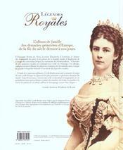 Legendes Royales Dans L'Intimite Des Cours D'Europe - 4ème de couverture - Format classique