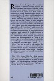 Les terres de decembre, voyage en patagonie chilienne - 4ème de couverture - Format classique