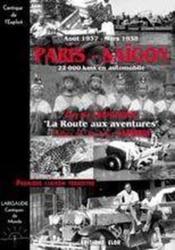 Paris-Saïgon ; la route aux aventures - Couverture - Format classique