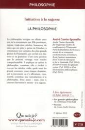 La philosophie (2e édition) - 4ème de couverture - Format classique