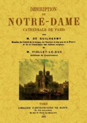 Description de Notre-Dame cathédrale de Paris - Couverture - Format classique