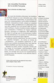 Les nouvelles frontières de la société française - 4ème de couverture - Format classique