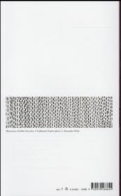 Les élégies - 4ème de couverture - Format classique